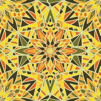 Wzór tapety bez szwu mandala wektor wzór do druku. ornament plemienny.