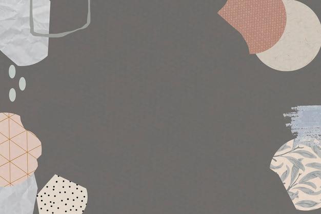 Wzór terrazza na brązowym tle wektor