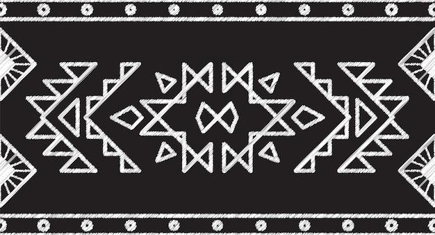 Wzór tkaniny tribal aztec seamless