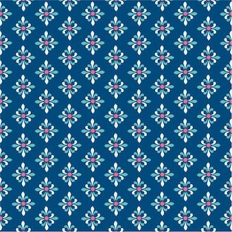 Wzór tła adamaszku w nowoczesny niebieski kolor granatowy