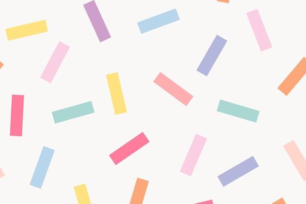 Wzór tła memphis w słodkie pastelowe posypki