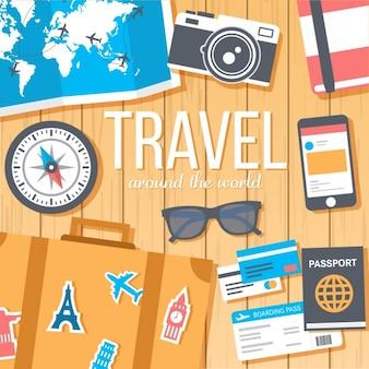 Wzór tła travel