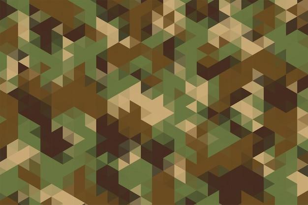 Wzór trójkątów w kamuflażu tekstury tkaniny wojskowej armii stylu