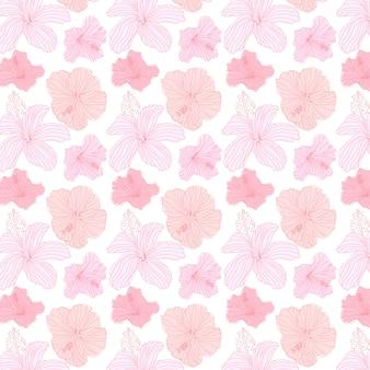 Wzór tropikalnych kwiatów