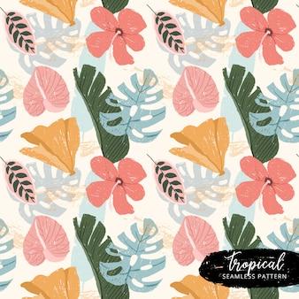 Wzór tropikalnych letnich roślin