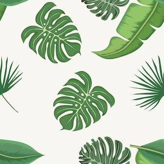 Wzór tropikalnych liści
