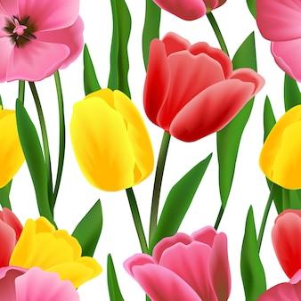 Wzór tulipan bez szwu