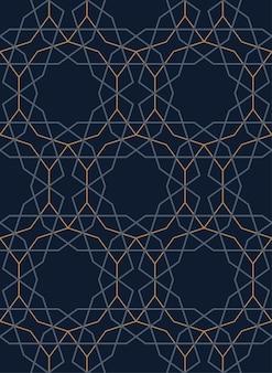 Wzór turecki, geometryczny, ciemny, bez szwu. liniowy ornament do dekoracji. ilustracja wektorowa