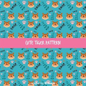 Wzór tygrysa i liści