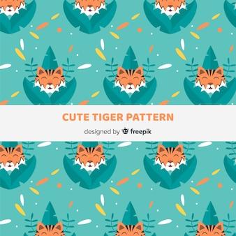 Wzór tygrysów i liści