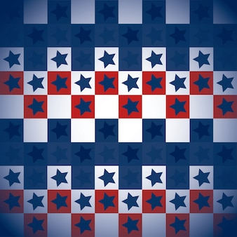 Wzór usa z kwadratami i gwiazdami