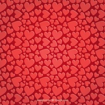 Wzór valentine z czerwonym sercem