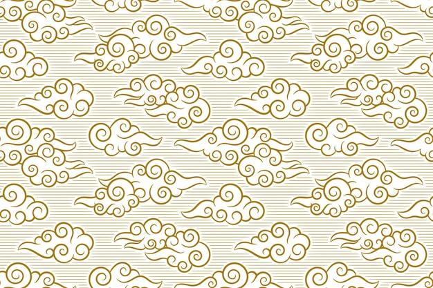Wzór w ilustracji stylu orientalnym