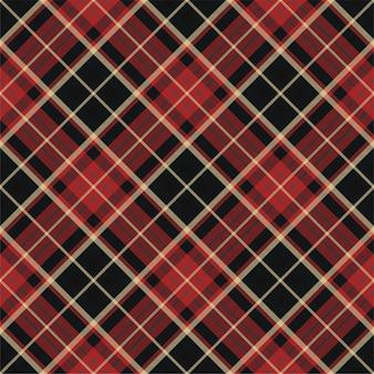 Wzór w kratę. tekstura tkaniny w paski. sprawdź kwadratowe tło. projekt tkaniny w kratę wektor