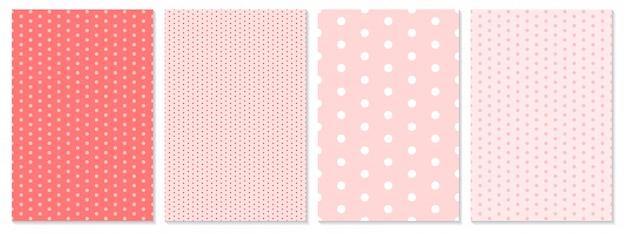 Wzór w kropki. tło dla dzieci. kolor koralowy.