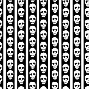 Wzór w paski z czaszkamiprojekt na halloween