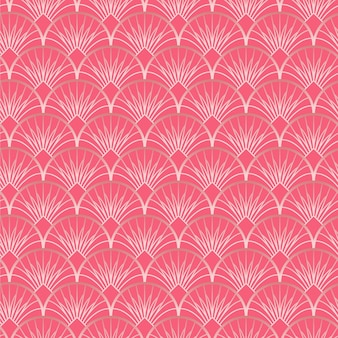 Wzór w stylu art deco w kolorze różowego złota