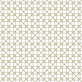 Wzór w stylu kumiko zaiku w brązowe linie. średnia grubość.