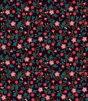Wzór w stylu vintage. haftowane kwiaty.