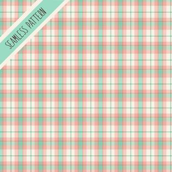 Wzór w zielono-różową kratę