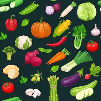 Wzór warzyw.