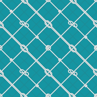 Wzór węzłów morskich liny. związane liny morskie, węzeł sznurkowy i żeglarska bezszwowa