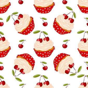 Wzór wiśniowe ciastko