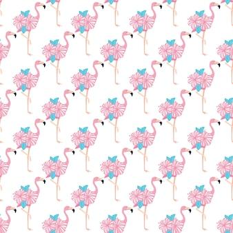 Wzór, wzór tła flamingo dla tkaniny i wystroju. wektor, ilustracja
