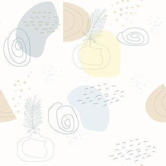 Wzór z abstrakcyjną kompozycją prostych kształtów