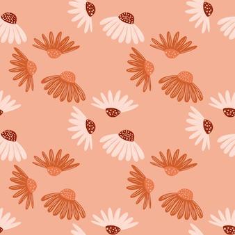 Wzór z abstrakcyjne kształty kwiatów stokrotka.