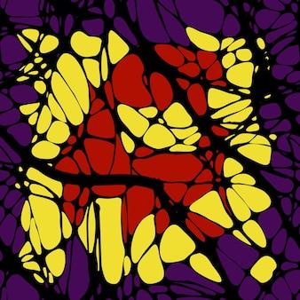 Wzór z abstrakcyjnymi wzorami, linie. grafika neuro. czarne linie na abstrakcyjnym tle wielobarwnym. ilustracja wektorowa