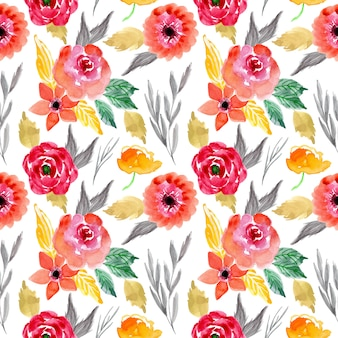 Wzór z akwarela kwiatowy
