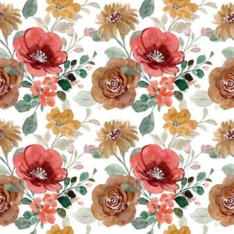 Wzór z akwarela kwiaty