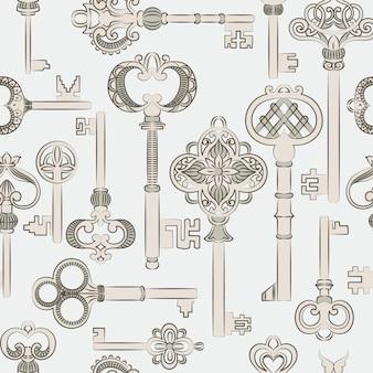 Wzór z antycznymi kluczami