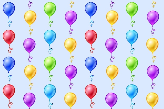 Wzór z balonów.