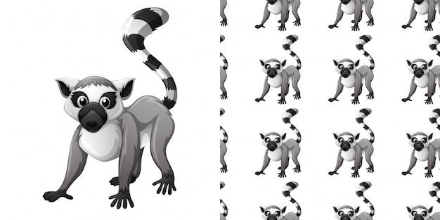 Wzór z cute lemura