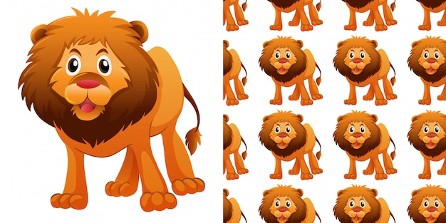 Wzór z cute lwa