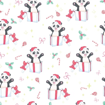Wzór z cute panda