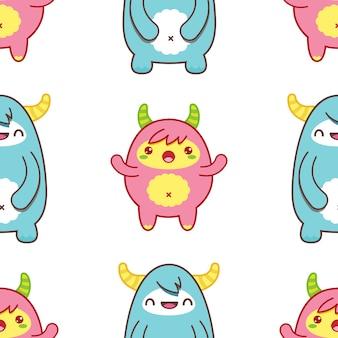 Wzór z cute yeti. ilustracja