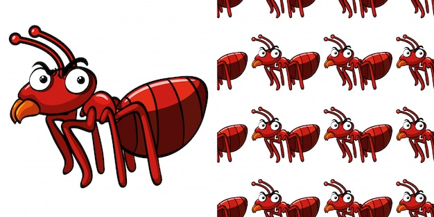 Wzór z czerwoną mrówką