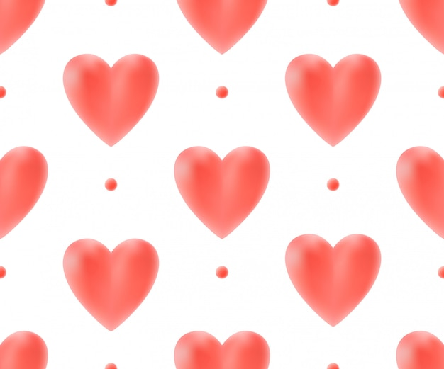 Wzór z czerwonymi sercami.