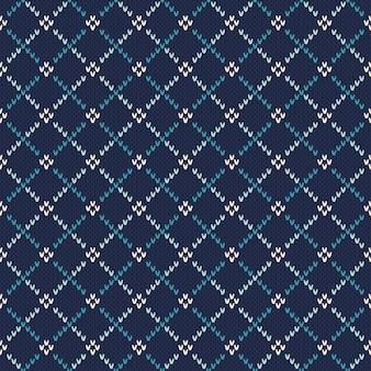 Wzór z dzianiny. sweter w stylu fair isle. dziana tekstura