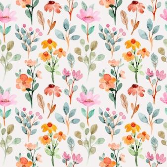 Wzór z dziką akwarelą kwiatowy