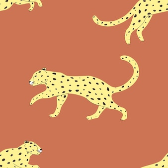 Wzór z dzikich zwierząt leopard ilustracji wektorowych do druku