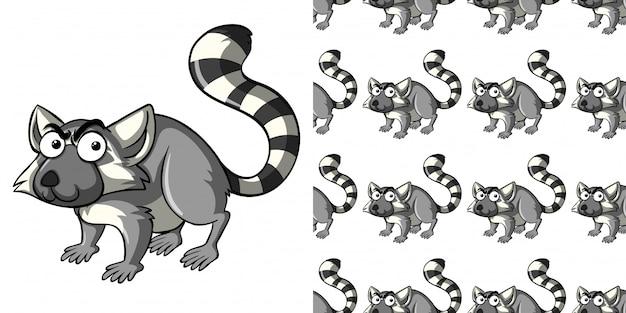 Wzór z dzikim lemurem