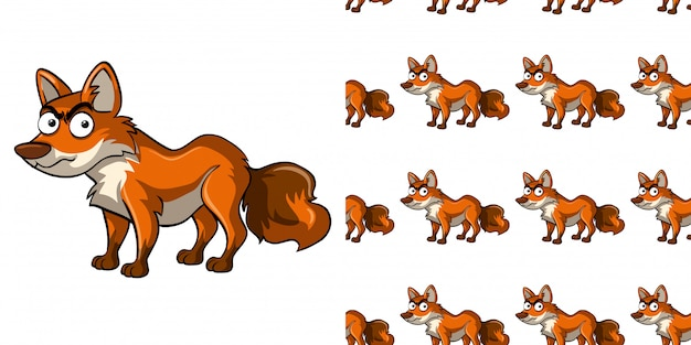 Wzór z dzikim lisem