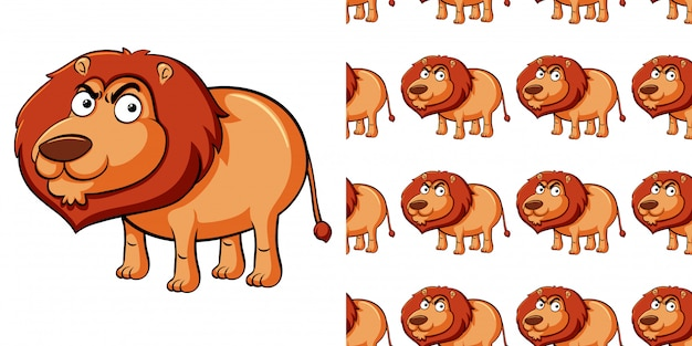 Wzór z dzikim lwem