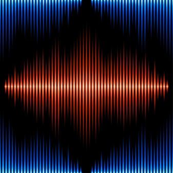 Wzór z falą dźwiękową