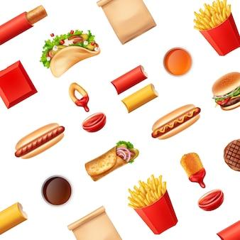 Wzór z fast foodami