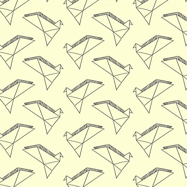 Wzór z gołębiami papieru